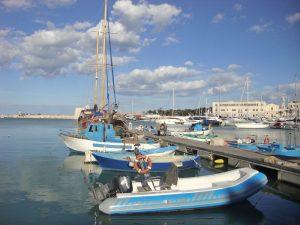 De jachthaven in Trani aan de Adriatische Zee